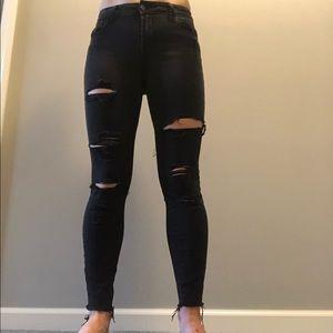 Old Navy Rockstar jeans Distressed black